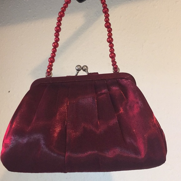 La Regale Handbags - La Regale crimson red day or evening bag